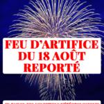 Report du feu d'artifice